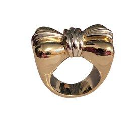 Dior-Bague noeud papillon Dior-Argenté,Doré