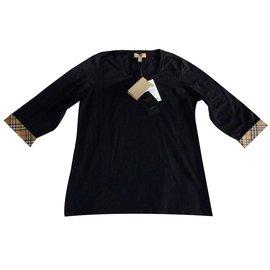 7f109c960bd708 Burberry-Tee shirt tunique Burberry neuf-Noir ...