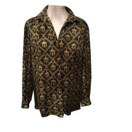 Hermès-Chemise 100% soie Hermes-Noir