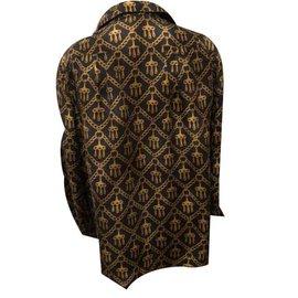 Hermès-Shirt 100Hermès silk scarf-Black