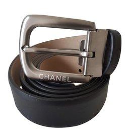Chanel-CHANEL CEINTURE HOMME CUIR DE VEAU TAILLE 95-Noir ... d870634894a