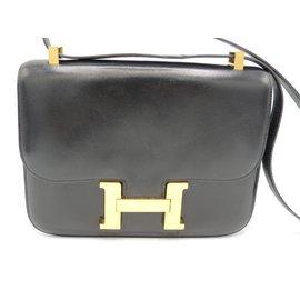 Hermès-HERMES SAC CONSTANCE NOIR-Noir