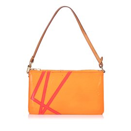 Louis Vuitton-Monogram Vernis Robert Wilson Lexington Pochette-Rose,Orange