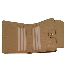 Chloé-Drew wallet-Cream