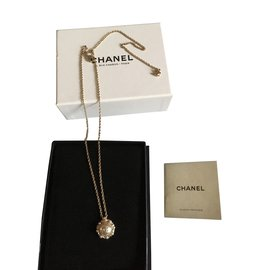 Chanel-Colliers-Doré,Écru