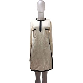 Chanel-Dresses-Black,Beige,Eggshell
