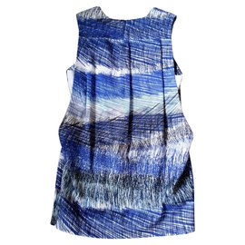 Kenzo-Kenzo lined back dress-Black,White,Blue