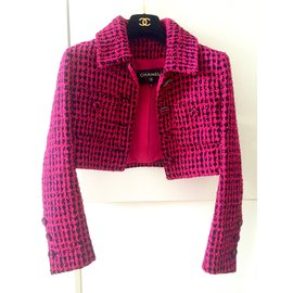 Chanel-Veste Courte Chanel-Rose
