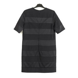Victoria Beckham-Victoria Beckham paneled shift dress-Black
