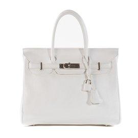 Hermès-Hermès Birkin 30 en cuir Togo blanc en très bon état ! 109f54f040e