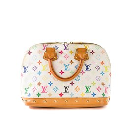 Louis Vuitton-Sac Louis Vuitton Alma Collector Murakami blanc multicolor !-Blanc,Multicolore