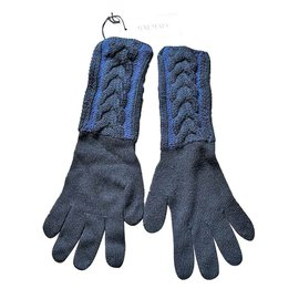 Balmain-BALMAIN BRAND NEW WOMAN'S GLOVES-Black,Blue