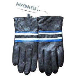 Dirk Bikkenbergs-BIKKEMBERGS NOUVEAUX GANTS EN CUIR-Noir