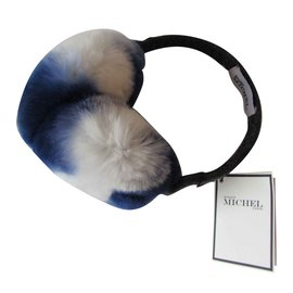 Maison Michel-Hats-White,Blue