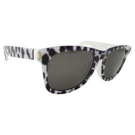 Saint Laurent-SL 51/ F lunettes de soleil-Noir,Blanc
