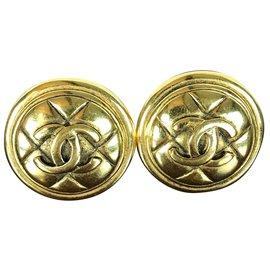 Chanel-Earrings Chanel-Golden