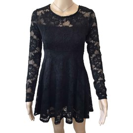 Guess-Lace dress-Black