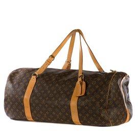 """Louis Vuitton-Rare sac de voyage Louis Vuitton """"Souple"""" 65cm en cuir souple et toile monogrammé en bon état !-Marron"""