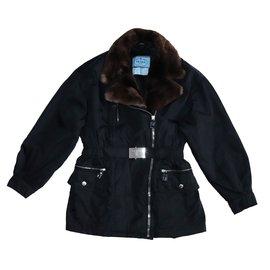 004bd477193a Prada-Manteaux, Vêtements d extérieur-Noir ...