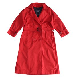 Burberry-Coats, Outerwear-Red