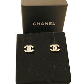 Chanel-Boucle d'oreille chanel-Argenté