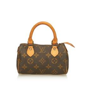 3f2c84e6d9da Louis Vuitton-Monogram Mini Speedy-Brown ...