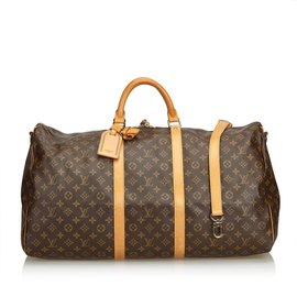 Louis Vuitton-Monogramme Keepall Bandoulière 60-Marron ... 99116ff5529