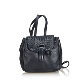 Bottega Veneta-Intrecciato Leather Drawstring Backpack-Black ... 9bdf6a7ca909c
