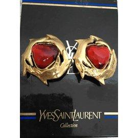 Yves Saint Laurent-Boucles d'oreilles-Doré