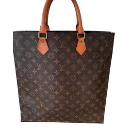d626f3bf9d86 Louis Vuitton-louis vuitton sac plat monogram tote bag-Light brown