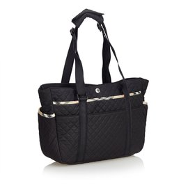 Burberry-Quilted Nylon Diaper Bag-Black