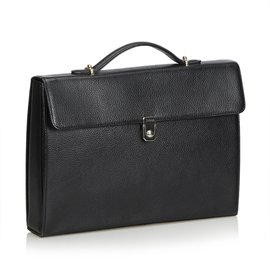Burberry-Leather Briefcase-Black
