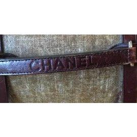 Chanel-Pochettes-Vert,Marron foncé