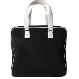 Chanel-CHANEL SHOPPING BAG-Black,White