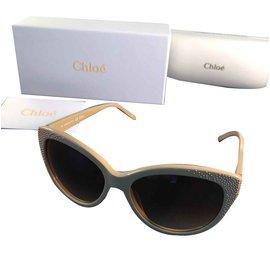 d3e35240f20399 ... Chloé-Des lunettes de soleil-Beige