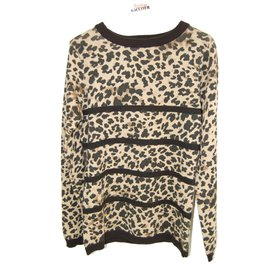 Jean Paul Gaultier-Junior Gaultier Graft Sweater-Leopard print