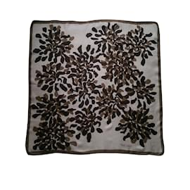 Givenchy-Silk scarves-Brown,Beige
