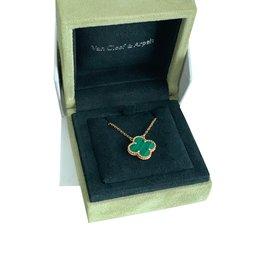 Van Cleef & Arpels-Pendentif Van Cleef Alhambra vintage malachite-Vert