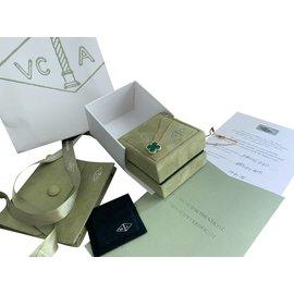 Van Cleef & Arpels-Van Cleef Alhambra Vintage Malachit Anhänger-Grün