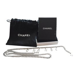 Chanel-Ceinture Chanel-Argenté