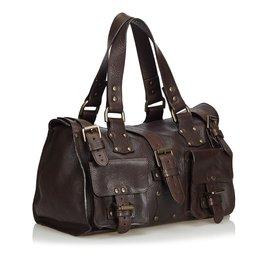 Mulberry-Roxanne Leather Handbag-Black