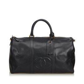 Chanel-Caviar Duffel Bag-Black