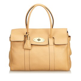 Mulberry-Leather Bayswater-Brown,Beige