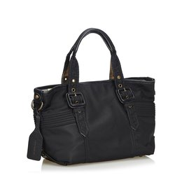 Burberry-Nylon Tote Bag-Black
