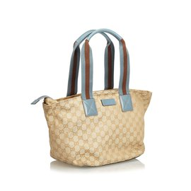 ... Gucci-GG Jacquard Sac à main-Marron,Bleu,Beige,Bleu clair 26b1ddffeca
