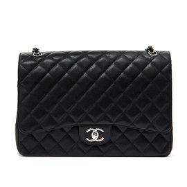 Chanel-Large Classic Black Timeless Caviar Bag-Black