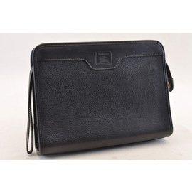 Burberry-Burberry Leather Vintage-Black
