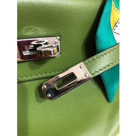 Hermès-Kelly 25 Martinet pélouse vert-Vert