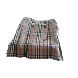 Burberry-Burberry wrap skirt-Beige
