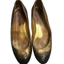 Chanel-Ballet flats-Bronze